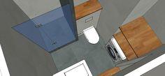 1. Door het gebruiken van een 3D-tekenprogramma voor de VT Wonen en Sanidrome  #droombadkamer is het makkelijk om een voorstelling te maken van de nieuwe badkamer.