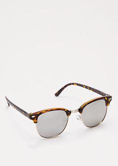 3b85568e99 Tortoiseshell Mirror Lens Sunglasses