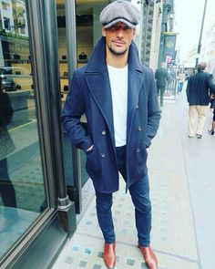 David Gandy Street Style & more details Mode Masculine, David Gandy Style, David Gandy Suit, Smart Casual, Men Casual, Mode Man, Winter Mode, Best Mens Fashion, Mens Fall
