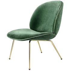 Beetle loungestol, grønn – Gubi – Kjøp møbler online på Room21.no
