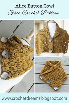 Make a button cowl using this free crochet pattern