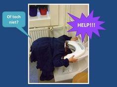 Een rioleringsproject voor kleuters. Huh een wc in de klas?   :)