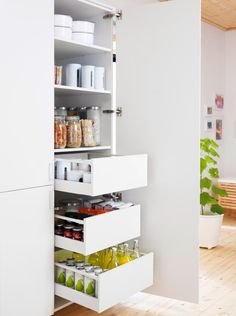 Slide Out Kitchen Pantry Drawers Inspiration The   decorate ikea pull out pantry in your kitchen and say slide out kitchen pantry drawers inspiration the how to assemble an ikea sektion pantry i. Ikea Metod Kitchen, Ikea Kitchen Cabinets, Kitchen Cabinet Organization, Built In Cabinets, Custom Cabinets, Organization Ideas, Pantry Cabinets, Cabinet Ideas, Storage Ideas