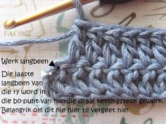 Hekel Idees: Hekel Tutoriaal: in plaas van 'n Nuwe Tegniek? Beginner Crochet, Crochet For Beginners, Afrikaans, Merino Wool Blanket, Knits, Knit Crochet, Craft Projects, Van, My Favorite Things