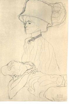 Pin by pam beeler on gustav klimt in 2019 графика Gustav Klimt, Klimt Art, Yarn Painting, Figure Painting, Figure Drawing, Drawing Artist, Painting & Drawing, Art Nouveau, Pencil Drawings Of Flowers