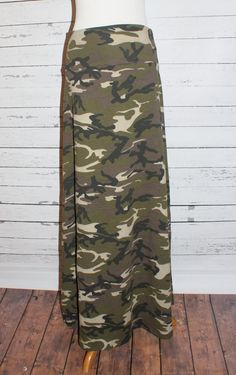 Camo maxi skirt from Amy Anne Apparel