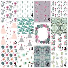 Succulent baby bedding - cactus and flowers - crib sheet - nursery decor - swaddle - change pad cover - boho bedding - floral crib skirt