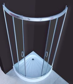 quadrant shower cabin with rounded front 800x800  ebay $190!!