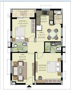 West Facing House Plans According to Vasthu. 2bhk House Plan, 3d House Plans, Indian House Plans, Simple House Plans, Model House Plan, Duplex House Plans, House Layout Plans, Duplex House Design, Small House Design