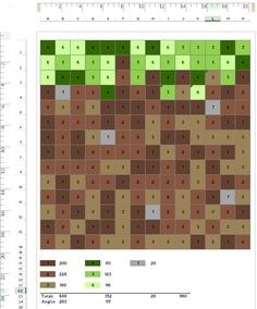 Excel Minecraft cake template