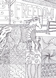 one of my favorites because of the creative pattern squares...and it has a horse of course. http://www.amazon.com/Horse-Lovers-Coloring-Book-2/dp/1517170877/ref=sr_1_1?ie=UTF8&qid=1442893081&sr=8-1&keywords=horse+lover%27s+col