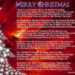 Merry Christmas 2015 Poems in English : Merry Christmas is the world most major festival, on the Merry Christmas day Christian people are very happy. The day of Christmas is celebrated as birth of Jesus Christ on 25th of December in most of countries world...