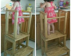 Child Kitchen Helper Step Stool Toddler Stool Tot Tower & Child Kitchen Helper Step Stool by TeddyGramsTotTowers on Etsy ... islam-shia.org