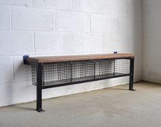 [3012] . vintage locker room bench