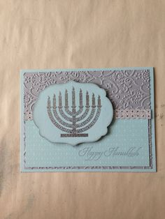 Stampin' Up! Jewish Celebrations Hanukkah card