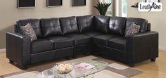Nicole LeathAire Sectional Sofa Set