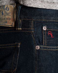 Polo Ralph Lauren. I'll admit it; I'm a fashion snob. I love the feel of Versace, Armani, Polo, DKNY, and Calvin Klein jeans on. I own others, but these top my list. How many pair of jeans are too much?