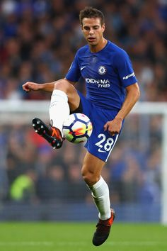 Cesar Azpilicueta of Chelsea in action during the Premier League match between Chelsea and Manchester City at Stamford Bridge on September 30, 2017 in London, England.