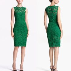 Vintage Womens Green Lace Sleeveless Slim Party Evening Tunic Mini Skirt Dress