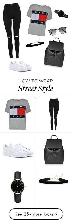 """""""Street Style"""" by rania-braham on Polyvore featuring adidas, Topshop, Tommy Hilfiger, Ray-Ban and ROSEFIELD"""