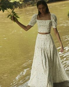 Get inspired and discover Agua by Agua Bendita trunkshow! Shop the latest Agua by Agua Bendita collection at Moda Operandi. Skirt Outfits, Cute Outfits, Girly Outfits, Cute Fashion, Vintage Fashion, 1950s Fashion, Vintage Clothing, Casual Dresses, Cozy Outfits
