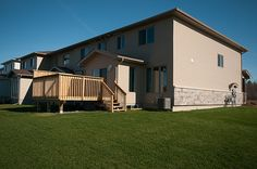 Braebury Model home - view of back exterior
