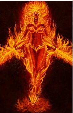 Fire Goddess Describes how I feel sometimes! Embody the Divine Feminine whatever her mood. Phoenix Art, Phoenix Rising, Dark Fantasy Art, Fantasy Artwork, Flame Art, Fire Image, Goddess Art, Fire And Ice, Divine Feminine