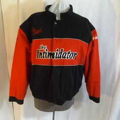 VTG signed DALE EARNHARDT Winston Cup Jacket THE INTIMIDATOR NASCAR Mens Medium #WinnersCircle #intimidator