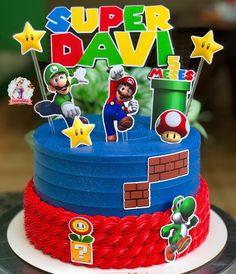 ay Bauller no Instagra Bolo Do Mario, Bolo Super Mario, Mario Bros., Mario And Luigi, Super Mario Bros, Mario Kart, Mario Birthday Cake, Super Mario Birthday, Super Mario Party