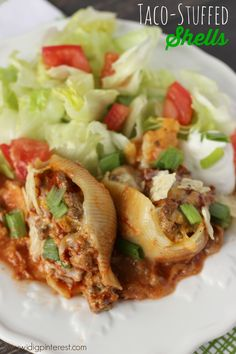 Taco-Stuffed Pasta Shells on MyRecipeMagic.com