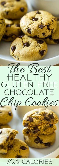 Easy Healthy Gluten Free Chocolate Chip Cookies - SO big, soft and chewy that you would never believe they are butter and oil free and use a secret, heart-healthy ingredient to make them low fat and only 105 calories! | Foodfaithfitness.com | @FoodFaithFit | chewy gluten free chocolate chip cookies. gluten free chocolate chip cookies recipe. simple gluten free chocolate chip cookies. soft gluten free chocolate chip cookies. homemade gluten free chocolate chip cookies. healthy chocolate chip…