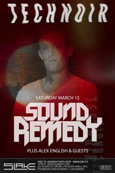 This Saturday, let the music take you as Chicago bred producer, Sound Remedy, brings his transcendental beats to TECHNOIR at New York City's newest 21+ dance club, Slake. Stricken off the path of finance, SR found his true passion composing classically influenced electronic tunes that take the listener on a spiritual journey. With support from …