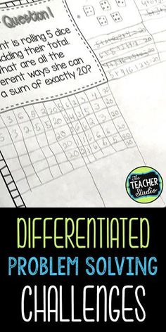 Differentiated Problem Solving:  A New Approach Teaching differentiated problem solving tips and ideas, problem solving, differentiation, addition, subtraction, word problems, math enrichment, math workshop, math stations, guided math, third grade, fourth grade, fifth grade, tiered math, tiered problem solving, teaching resources, assessment