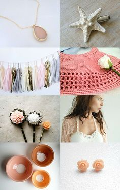 Peaches and Cream by Mari Carmen Idrovo on Etsy--Pinned with TreasuryPin.com