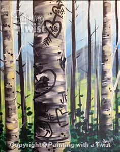 Add to Waitlist: Graffiti Aspen - Customize! ($35) - Colorado Springs, CO - East Painting Class - Painting with a Twist