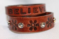 Shelly Jack Handmade Leather Stamped Cuffs http://www.etsy.com/shop/shellyjackhandmade