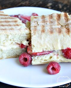 Berries and Creme Fraiche panini