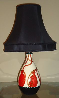 My best friends' mom's hand painted cat lamp, up for grabs on etsy! Check her out!