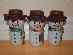 Recycled Snowman Ornament by NewLifeCreatons on Etsy