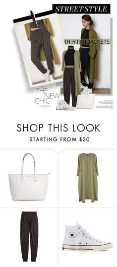 """""""...duster coat"""" by milica1940 ❤ liked on Polyvore featuring Boohoo, H&M, Converse and Miss Selfridge"""