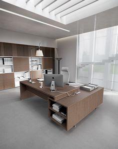Havicmeubelen-kantoor.nl - Jork directiebureau met aanbouwkast in houtdecor - Directiebureaus - Directie