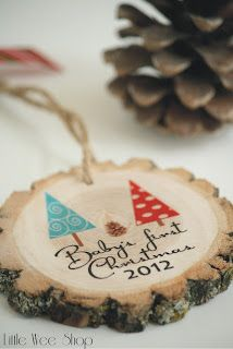 Baby's first Christmas Ornament for Expectant mother - Baby Shower Gift from Little Wee Shop Modern Christmas Ornaments, Christmas Wood, Personalized Christmas Ornaments, Xmas Ornaments, Christmas Projects, Christmas Holidays, Christmas Decorations, Ornament Crafts, Babys 1st Christmas