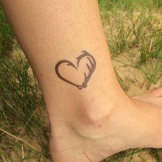 Fishing Tattoo Fish Hook Heart Hunting by WhiteRabbitsDesign
