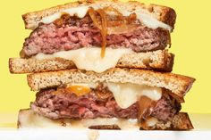 As great dinner sandwiches go, it is hard to beat patty melts: ground beef, Swiss cheese and caramelized onions griddled on rye bread until they become Dinner Sandwiches, Wrap Sandwiches, Beef Recipes, Cooking Recipes, Beef Meals, Sandwich Recipes, Recipies, Patty Melt Recipe, A New York Minute