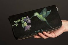 Leather wallet. Leather card holder. Original wallet. Womens