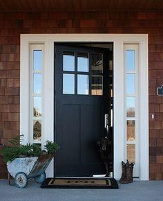 Love the two tones of this front door!