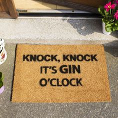 are you interested in our gin o clock doormat with our funny doormat gift you