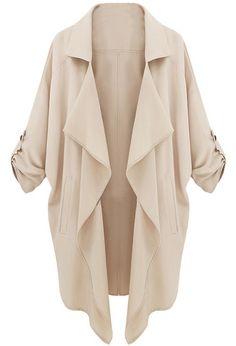 Beige Long Sleeve Casual Loose Pockets Coat, US$23 (Sale): http://rstyle.me/n/g7nhir6gw  More via the Luscious Shop: www.myLusciousLife.com/shop