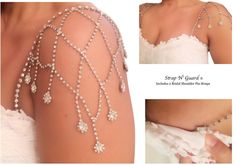 Do you have the perfect strapless bridal dress but are looking for straps to add to it? Strap N' Guard Wedding Straps are the reliable, affordable solution to not only secure your wedding dress with a perfect customized fit, but also adds stylish flare...