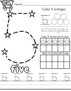 Kindergarten Traceable Numbers Worksheet Printable